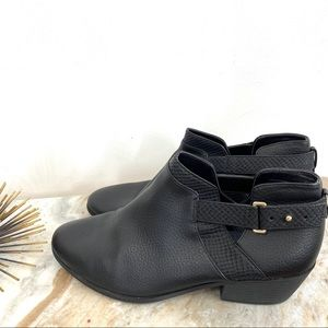 Dr Scholls Memory Foam Black Ankle Booties